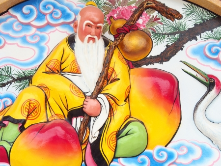 The Chinese god on the wall