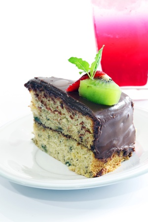 Banana chocolate cake  photo