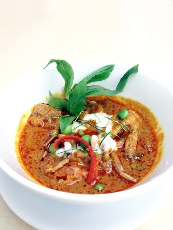 coconut crab: Curry crab and herb rice.