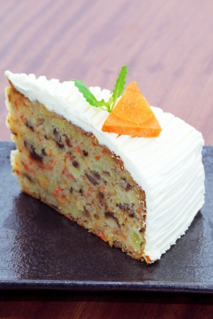 Carrot cream cheese cake. photo
