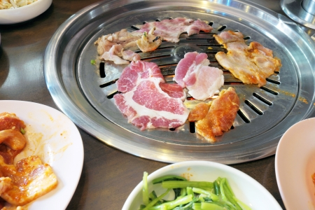 Grilled Pork Korea.  photo