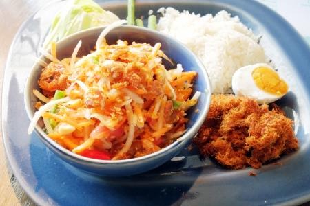 Green papaya salad Thai Stock Photo - 17103805