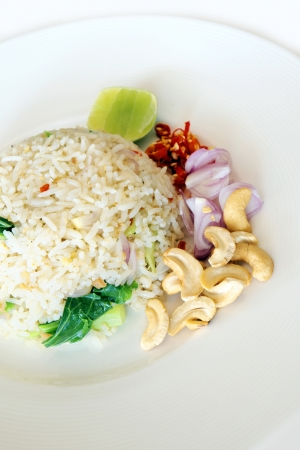Rice with shrimp paste photo