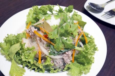 Spicy pork vermicelli Stock Photo - 17679470