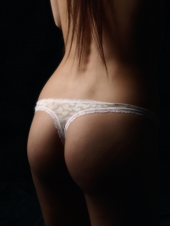 thong panties: Standing sexy woman Stock Photo