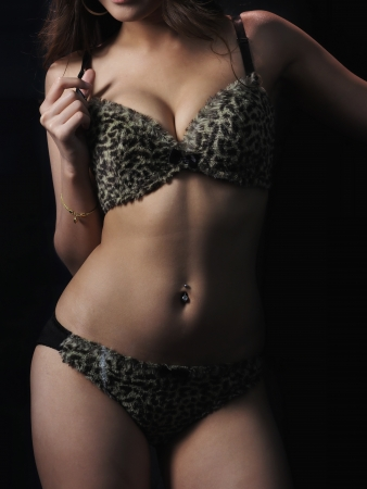 navel piercing: Young Sexy Lady