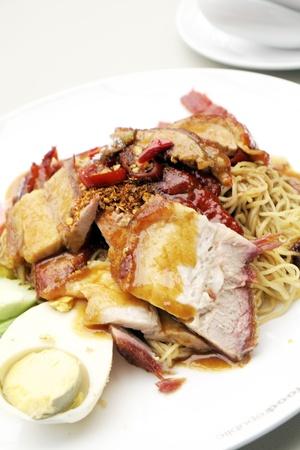 Roast duck noodles. photo