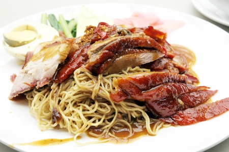 Roast duck noodles. photo