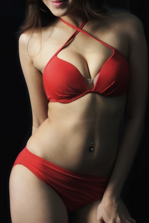 belly button: Young Sexy Lady