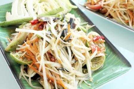 Green papaya salad Stock Photo - 18275271