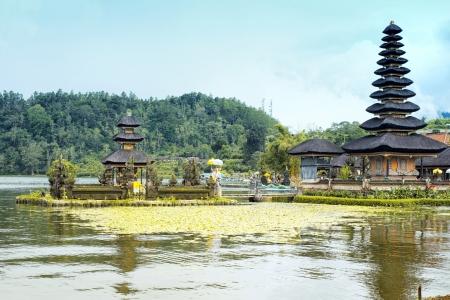 bratan: Ulun danu temple in Bali Stock Photo