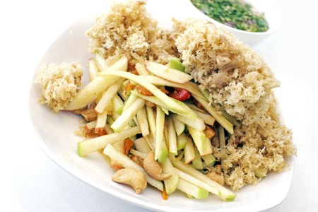 Thai style crispy fries catfish photo