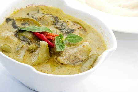 green curry with coconut milk photo