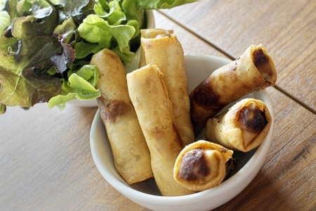Egg roll food wrappers photo