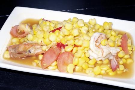 long bean: corn salad