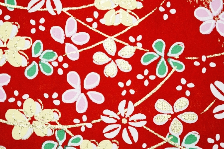 Pattern on the wrapper of the Japanese photo