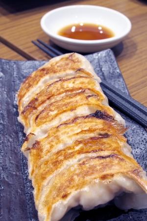 potstickers: Fried Dumplings Stock Photo