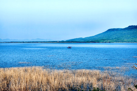 Beautiful landscape of the dam in Thailand. Stock Photo - 28489247