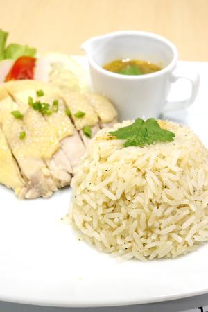 Steam Chicken with Rice photo