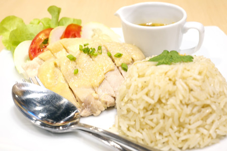 Steamed fish with curry paste,Thai food photo
