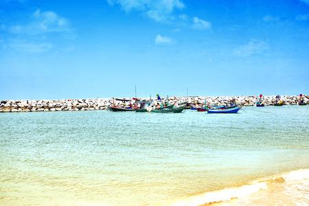 cha: Cha Am beach in thailand Stock Photo