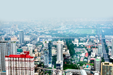 birdeye: Bangkok bird-eye view Stock Photo