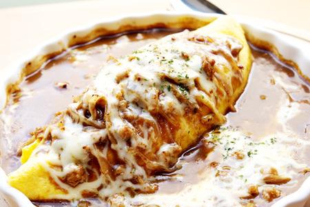 japon food: Curry riz omelette Japan food