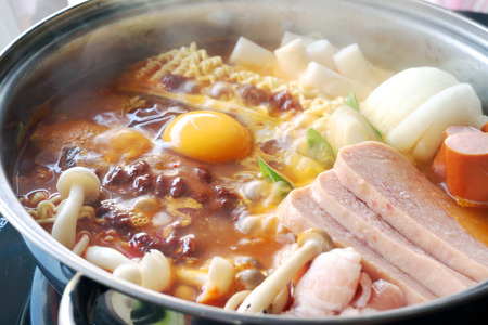 Koreaanse hot pot Stockfoto