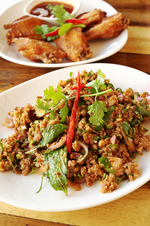 minced: Spicy Minced Pork in Thailand