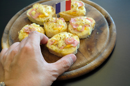 home baked: Home baked ham and cheese rolls