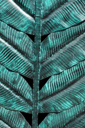 banana sheet: Metal walls to form a banana leaf