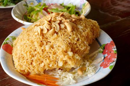 Crispy catfish salad Stock Photo