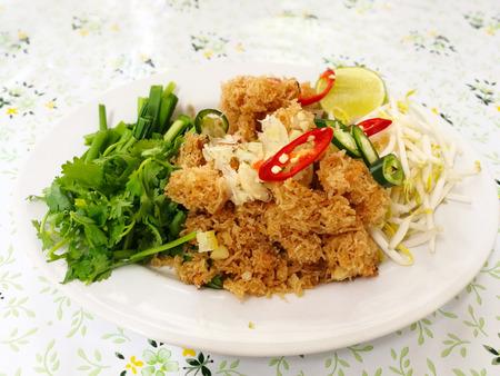 Crispy rice noodles of Thailand Stock Photo