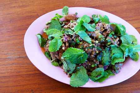 Pork chops with spicy Thailand