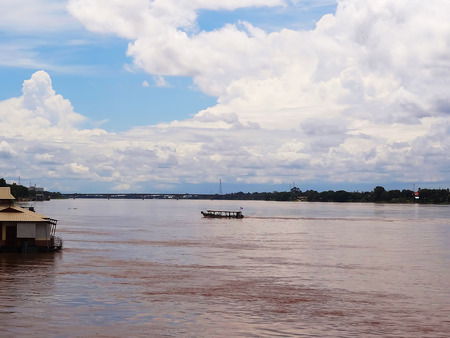 mekong river: Mekong River Viewed from the side of Thailand