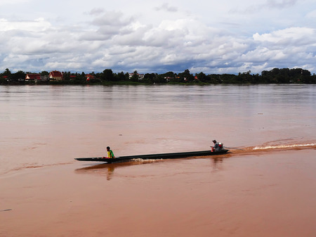 Mekong River Viewed from the side of Thailand