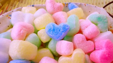 rainbow decoration heart ball photo