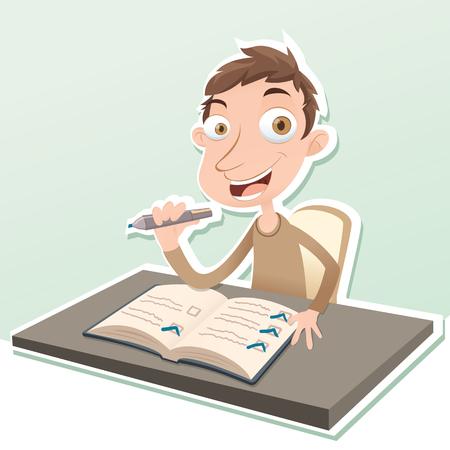 todo: cartoon happy finish his to-do list