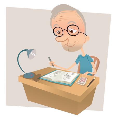 数学をやって漫画老人