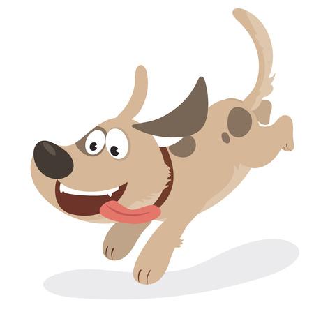 cartoon jumping dog.