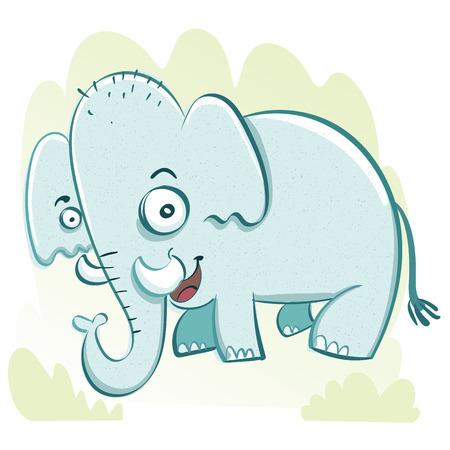 Cartoon funny elephant.