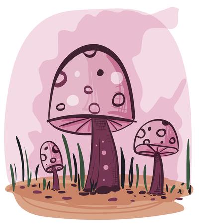 poison: Cartoon poison mushroom illustration