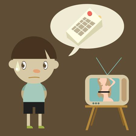 cartoon boy with awkward tv show