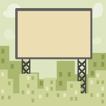 big empty  billboard in city Ilustração