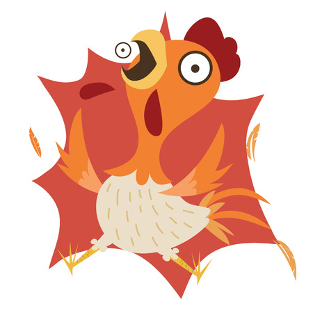 Cartoon funny shocking chicken