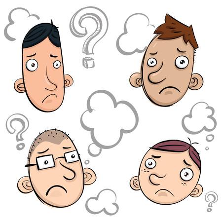 cartoon doubt face doodle