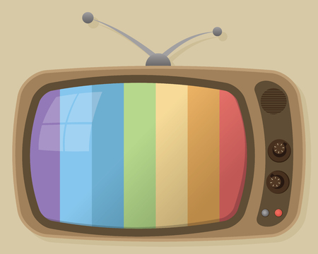 vector old retro television Ilustração