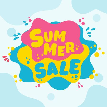 Summer super sale banner template. 일러스트
