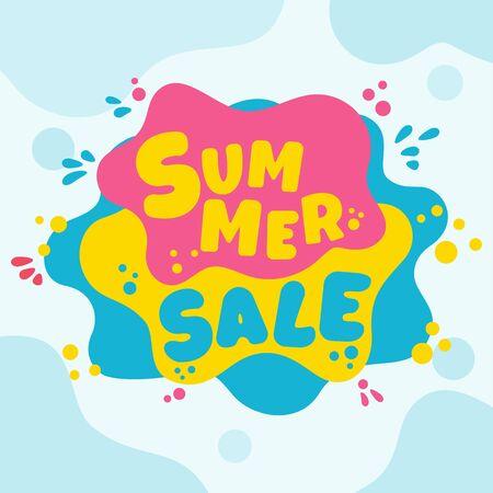 Summer super sale banner template. 矢量图像