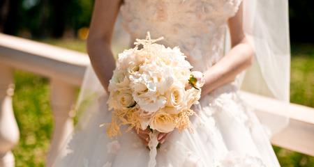 bruiloft boeket Stockfoto